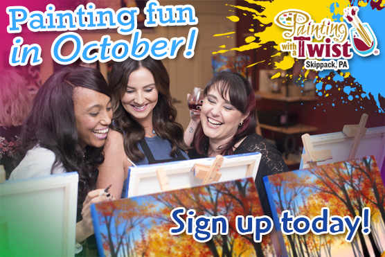 Painting With a Twist Skippack in October! @ Painting With a Twist Skippack, PA | Schwenksville | Pennsylvania | United States